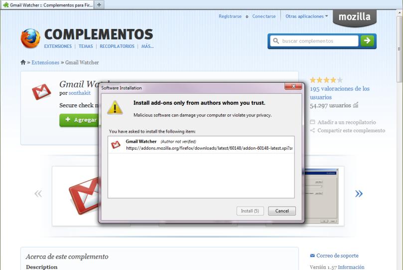 Instalar Notificación por sonido en Firefox