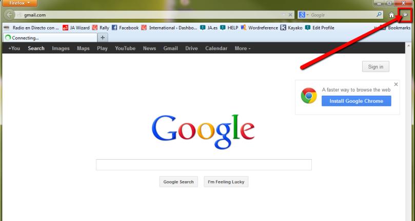 Símbolo de Notificación con sonido de Firefox